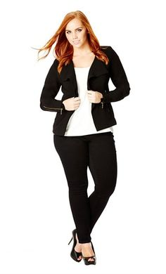 City Chic MUST HAVE DRAPE JACKET  - City Chic Your Leading Plus Size Fashion Destination #citychic #citychiconline #newarrivals #plussize #plusfashion