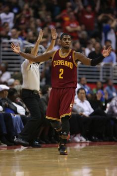 Guard Kyrie Irving celebrates a three point shot in the closing seconds of the fourth quarter against the Los Angeles Clippers at Staples Center on November 5, 2012 in Los Angeles, California - photo courtesy of Jeff Gross / NBAE via Getty Images.