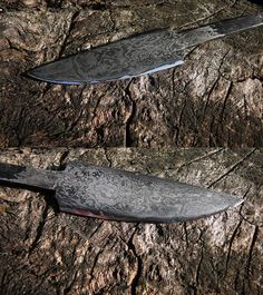 "Hand forged patternwelded knife. 120 layers. It's not damascus steel, as real damascus steel no longer exists. In Poland we call that type of steel a ""dziwer""."