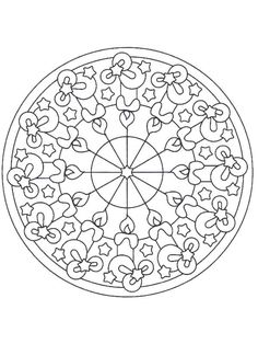 FREE Christmas Mandala Coloring Pages~  Lots of great holiday themed coloring pages!