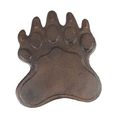 Cast Iron Bear Footprint Stepping Stone Stones Home Decor Garden Art Wall by Things2Die4. $25.05. 10 Inches by 8 1/2 Inches. Cast Iron. Antiqued Finish. This stepping stone is designed to give your garden path a unique and delightful look. Add some rustic charm to your outdoor landscape with this beautiful stepping stone. This garden stepping stone is completely made from cast iron and molded to the shape of a bear foot print. Perfect for any yard setting. What...