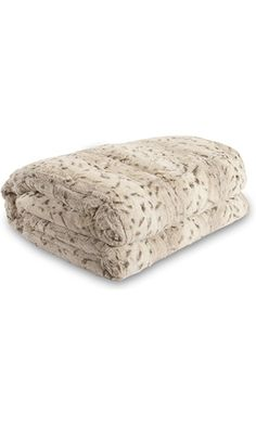 Lucy's Luxury Bellahome Safari Faux Fur Plush Throw Blanket Comforter, Queen (74'' L x 86'' W ), White Best Price