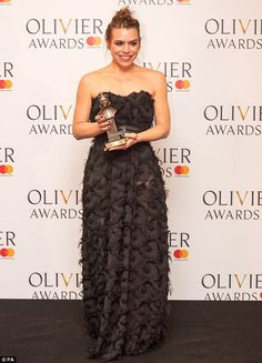 Revealed: Billie Piper winsonier Awards, the Royal Albert Hall in Kensington, London, on Sunday Harry Potter Cursed Child, Strapless Dress Formal, Formal Dresses, Billie Piper, Royal Albert Hall, Best Actress, Awards, Kensington London, Actresses