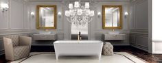 Neoclassical bathrooms: rediscovering the canons of luxury and elegance