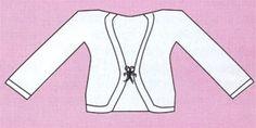 Болеро для девочки спицами (общий вид)