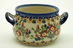 The Individual Soup Tureen (Poppy Persuasion) from The Polish Pottery Outlet