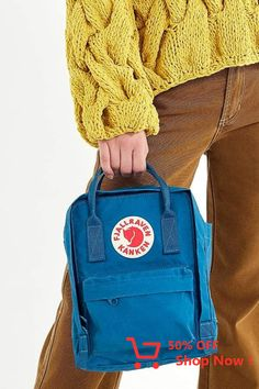 Urban Outfitters Fjallraven Kanken Mini Backpack - Frost Green + Pink One Size Mini Backpack, Kanken Backpack, Business Casual, Urban Outfitters, Backpacks, Boards, Cute, Kids, How To Wear