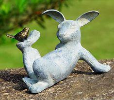 Playful Rabbit Garden Sculpture, SPI-San-Pacific-International-All-Products, 33674 - Modern Design Rabbit Garden, Rabbit Sculpture, Outdoor Sculpture, Garden Care, Garden Statues, Garden Sculptures, 5 W, Totems, Raised Garden Beds