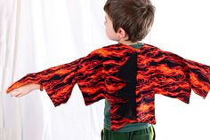 Kid's Dragon Wings  Flame  Dinosaur Costume by TheBitsyBugBoutique
