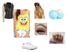 """""""The SpongeBob Outfit"""" by hotbeautiful on Polyvore featuring Johnny Loves Rosie, River Island and Converse"""
