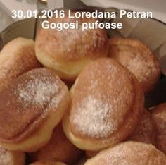 Gogosi pufoase reteta de la bunica | Savori Urbane Baking Recipes, Cake Recipes, Food Cakes, No Bake Cake, Finger Foods, Hamburger, Bread, Dessert, Recipes