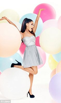 Ariana Grande models her 'fun and totally affordable' Lipsy range