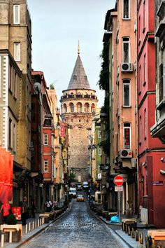 The Galata Tower (Galata Kulesi in Turkish) — called Christea Turris (the Tower of Christ in Latin) by the Genoese — is a medieval stone tower in the Galata/Karaköy quarter of Istanbul, Turkey, just to the north of the Golden Horn. One of the city's most striking landmarks, it is a high, cone-capped cylinder that dominates the skyline and offers a panoramic vista of Old Istanbul and its environs.