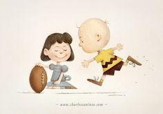 Peanuts . Charles Santoso . Charlie Brown . Illustration