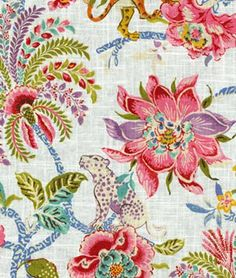 Williamsburg Braganza Spice Fabric | OnlineFabricStore.net Folk Embroidery, Indian Embroidery, Hand Embroidery Designs, Embroidery Stitches, Textile Patterns, Textile Design, Textiles, Handbags Online Shopping, Green Butterfly