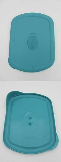 Pyrex Storage Deluxe Turquoise 5 Cup Rectangular Plastic Lid