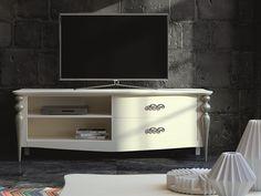 Meuble TV avec 2 tiroirs et 2 espaces.Mod. PA9757 Flat Screen, Design, Tv Storage, Drawers, Spaces, Boutique Online Shopping, Flatscreen, Design Comics