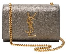 069456473747 Saint Laurent Small Ysl Monogram Leather Chain Metallic Cross Body Bag. Get  the trendiest Cross