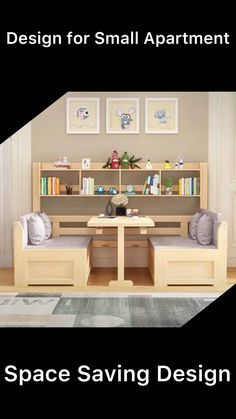 Small Room Design Bedroom, Bedroom Furniture Design, Home Room Design, Home Decor Furniture, Bed Design, Home Interior Design, Sofa Table Design, Smart Furniture, Space Saving Furniture