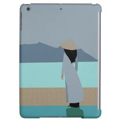 Girl in the rain iPad air cases - drawing sketch design graphic draw personalize