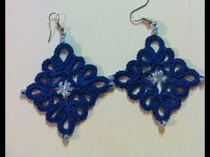 Let's Tat Some Earrings - YouTube  [Cluster Diamond Earrings by One Virtuous Woman - NB]