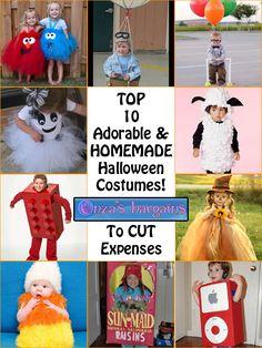 Top 10 Adorable Homemade #Halloween Costume Ideas!  #DIY