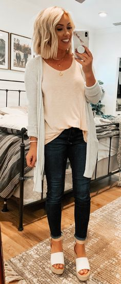 e8d8426fdf8c 11 Best White cardigan outfit images
