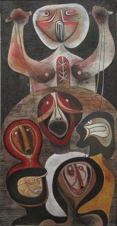 art-and-fury: Puppeteer - Cecil Skotnes A Level Art Sketchbook, Contemporary African Art, South African Artists, Art Africain, Art Brut, Bear Art, Naive Art, Art For Art Sake, Outsider Art