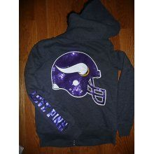 Victoria Secret MN Vikings Bling Hoodie