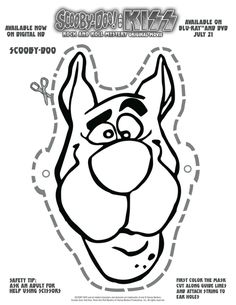 Click on the image to download this scooby doo mask print for Scooby doo cake template