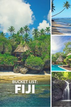 A guide to Fiji islands. Which island is the best for your Fiji vacations? Vanuatu, Places To Travel, Places To Go, Travel Destinations, Dream Vacations, Vacation Spots, Travel To Fiji, Relaxing Places, Inclusive Resorts