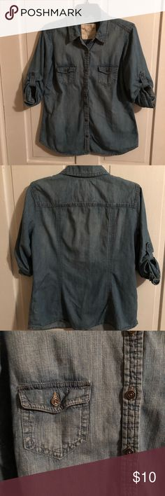 Denim button up Good condition. Comes from pet free and smoke free house. Sonoma Tops Button Down Shirts