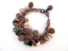 beach pebble jewellery - Google Search