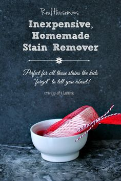 Use this time tested trick to make your own easy, effective and inexpensive Homemade Stain Fighter!