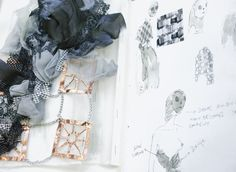 Fashion Sketchbook - fashion sketches & textile development; fabric manipulation; fashion portfolio // Vincent Lapp