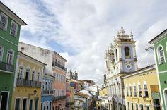 O bairro do Pelourinho é o coração do Centro Histórico de Salvador, a capital baiana