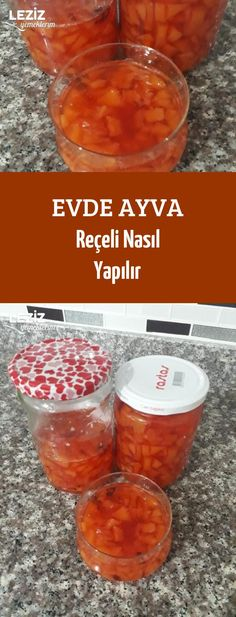 Evde Ayva Reçeli Nasıl Yapılır Yummy Food, Tasty, Confectionery, Homemade, Fruit, Health, Sweet, Recipes, Karma
