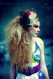 crazy hair, love this look for a high-fashion or theatrical show!!