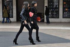 Emanuelle Alt & Geraldine Saglio / Tommy Ton for style.com