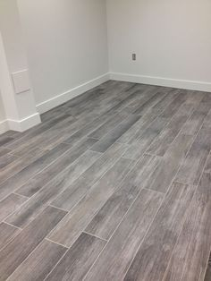 gray wood tile floor