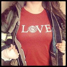 Fitted Fire department inspired women's shirt by FireSwag on Etsy, $21.00  Also search Facebook for Fire Swag