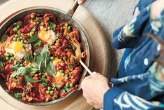 Shakshuka celebrates the flavors of the Middle East and North Africa, and is one of my favorite ways to jazz up the humble egg. Loaded with medicinal spices and bursting with lycopene, this tomatoey one-pan wonder won't fail to impress. It's a beautiful way to enjoy a communal breakfast with loved ones.