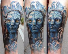 With the worldwide success of James Cameron's box office thriller Avatar, it's no surprise that some Movie Tattoos, 3d Tattoos, Great Tattoos, Beautiful Tattoos, Body Art Tattoos, Tattoos For Guys, Tattoos For Women, James Cameron, Forearm Tattoo Design
