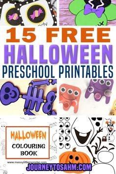 15 Free Halloween Preschool Printables – I love Halloween and all that you can do with the kids. As a mom of two, it can be tough to get out to the store and find fun things to do at home with them to celebrate! That why I put together the best Halloween preschool printables that are absolutely free! | Journey to SAHM @journeytosahm #halloweenprintables #freehalloweenprintables #preschoolhalloween #halloweencrafts #preschoolhalloweengames #preschoolprintables #journeytosahm Toddler Crafts, Toddler Activities, Educational Activities, Preschool Activities, Halloween Coloring Pages, Coloring Pages For Kids, Pumpkin Printable, Halloween Activities, Halloween Crafts