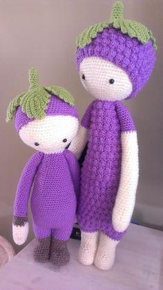 BERT und ERNA plum mod made by Janin G. / crochet pattern by lalylala