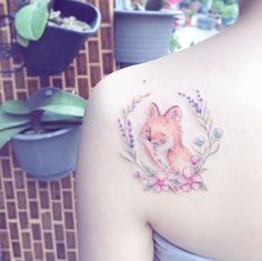 Fox back shoulder piece by Mini Lau
