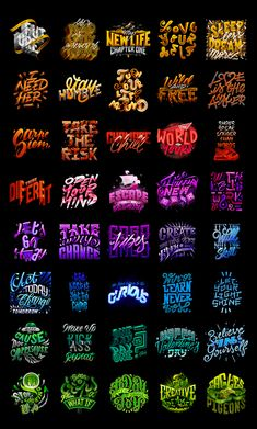 Compositions Lettering Collection Vol.1 on Behance