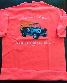 Summer Ridin'Comfort Colors-Preppy by SouthernPupClothing on Etsy