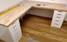 Build the corner desk yourself- Eckschreibtisch selber bauen Building a simple, inexpensive and good-looking corner desk is not that difficult!