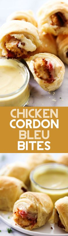 These Chicken Cordon Bleu Pastry Bites are absolutely HEAVENLY! Paired with a special sauce, these will be one appetizer your company can not get there hands off of!